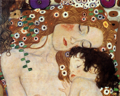 (c) Gustav Klimt,Three ages of woman, Mother and Child